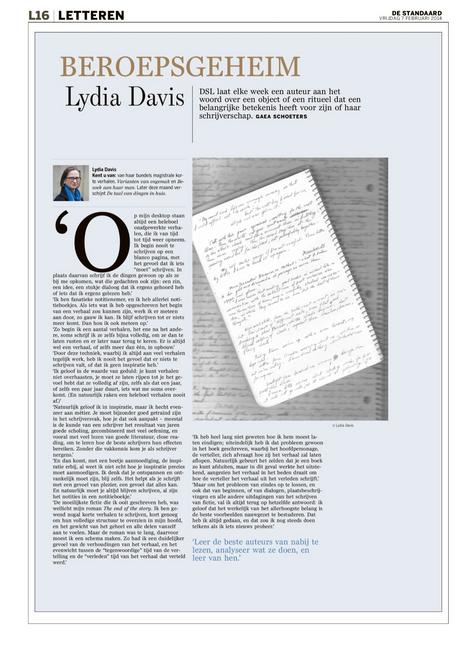 Lezen, lezen, lezen – Lydia Davis #Beroepsgeheim