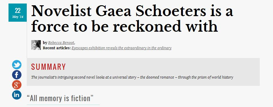 Novelist Gaea Schoeters is force to be reckoned with #FlandersToday