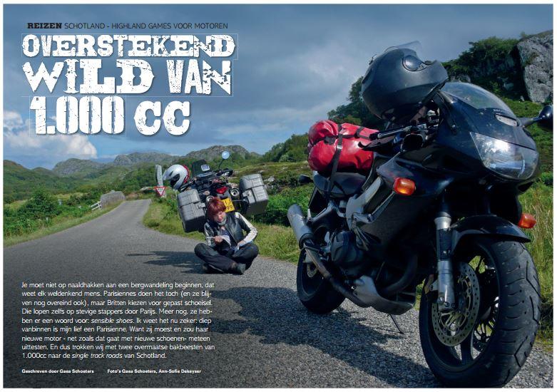 Highland games voor motoren: overstekend wild van 1000CC #Motorrijder