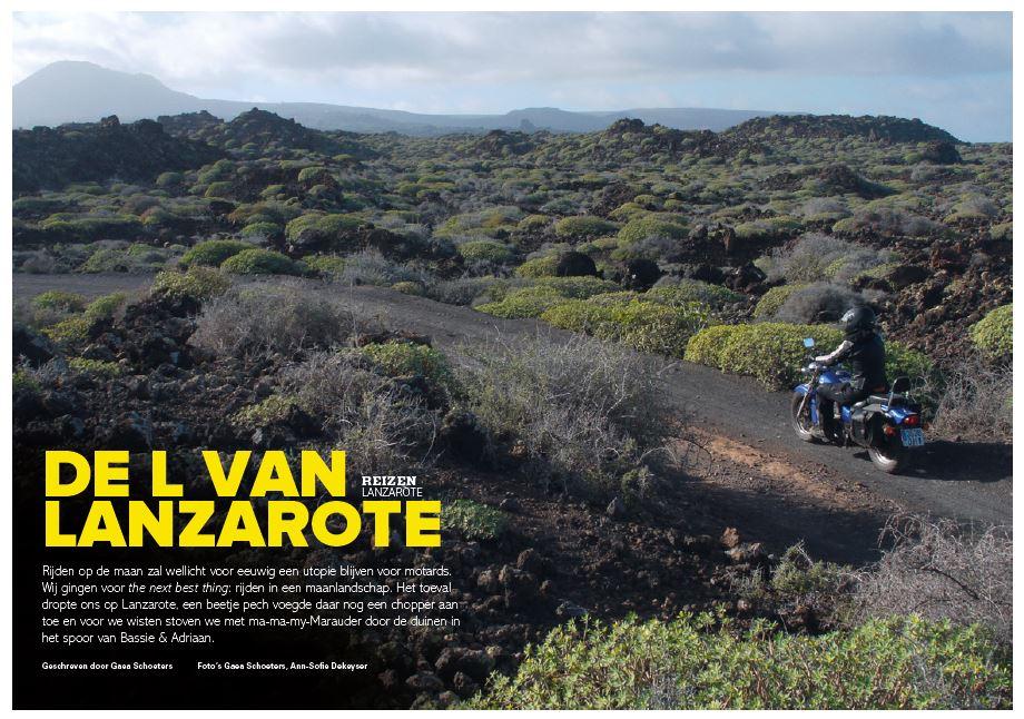 De L van Lanzarote #Motorrijder
