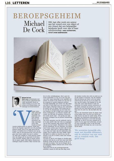 het schrift van Michael De Cock #beroepsgeheim
