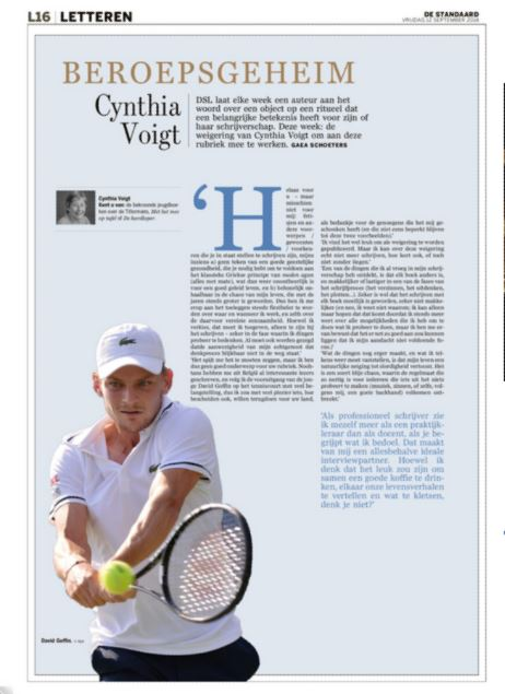 Cynthia Voigt bis (reaction to publication) #Beroepsgeheim