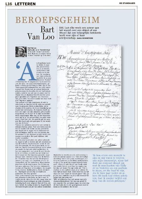 De voorouder van Bart Van Loo #Beroepsgeheim