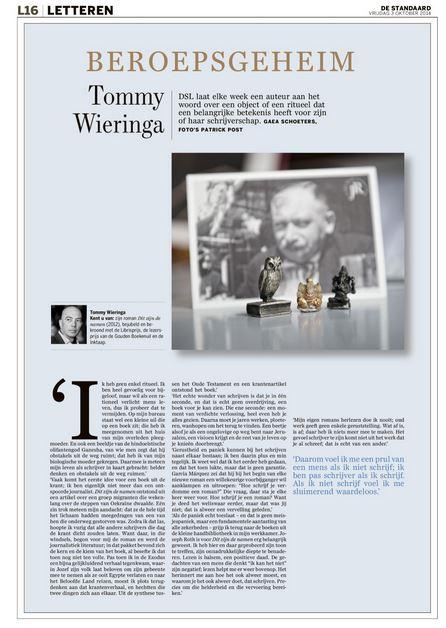 De ontbrekende rituelen van Tommy Wieringa #Beroepsgeheim