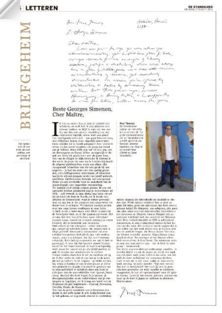 #briefgeheim Paul theroux #DSLetteren