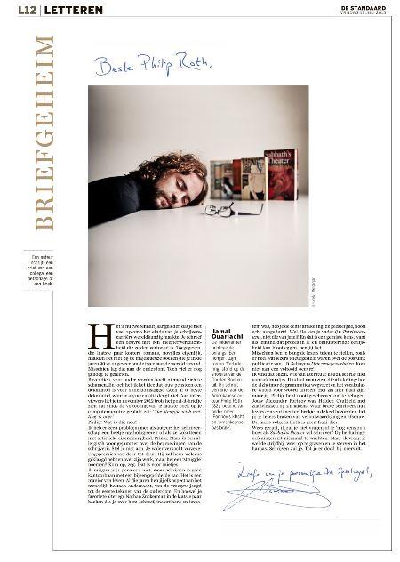 Jamal Ouarachi schrijft Philip Roth #Briefgeheim #dsletteren