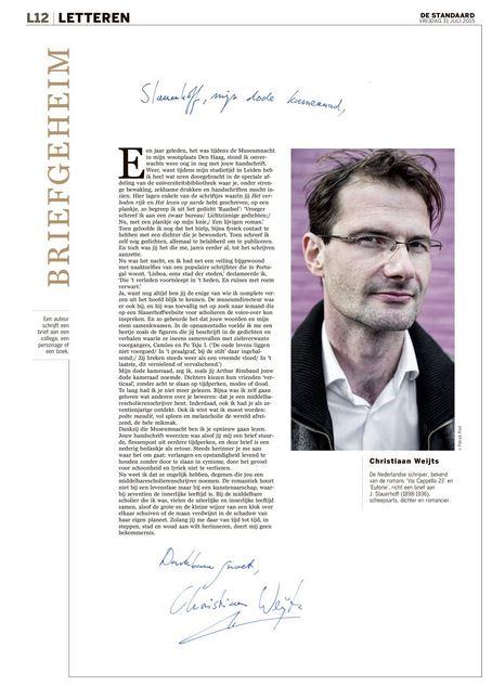 Christiaan Weijts schrijft Slauerhoff #briefgeheim #dsletteren