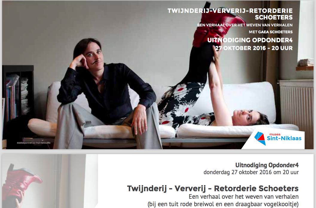 retorderie schoeters – solo performance – 2016 (NL)