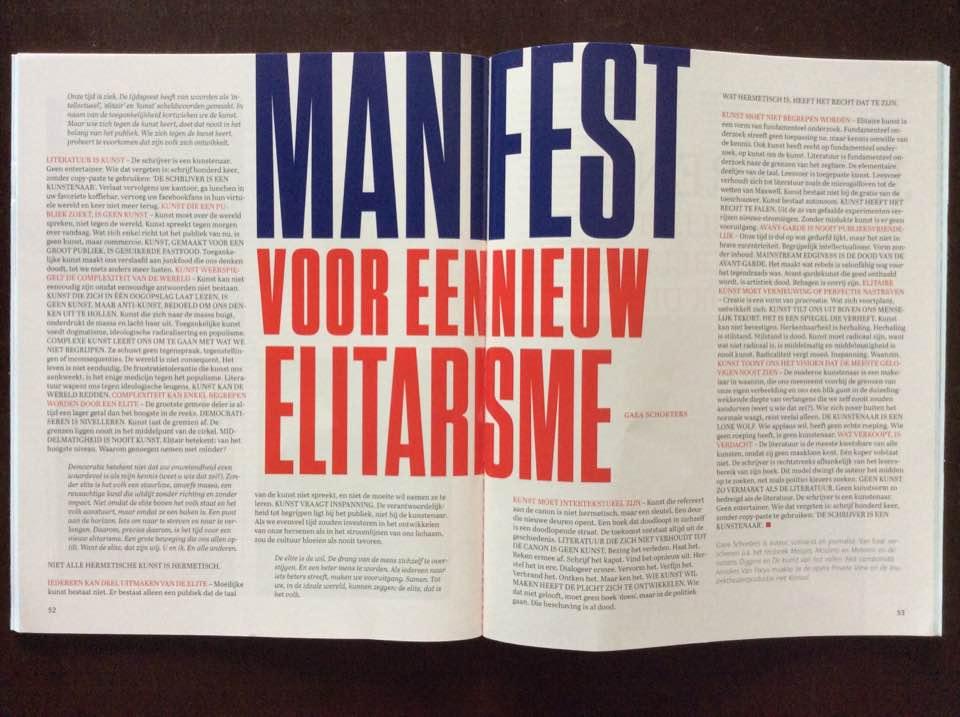 Manifest voor een nieuw elitarisme #rektoverso
