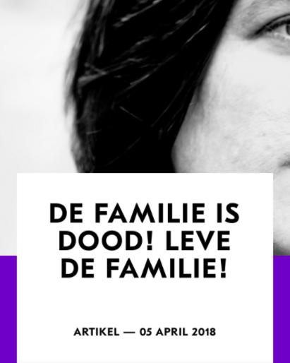 De familie is dood! Leve de familie! #toneelhuis