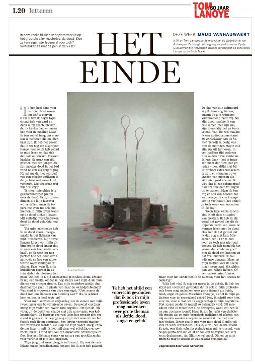 #heteinde van Maud Vanhauwaert #DSLetteren