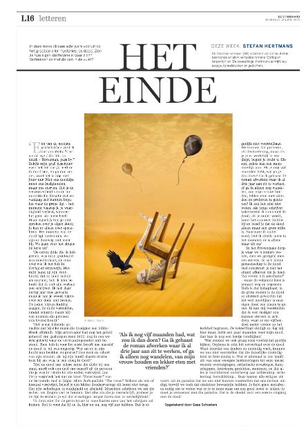 het einde van Stefan Hertmans, #DSLetteren