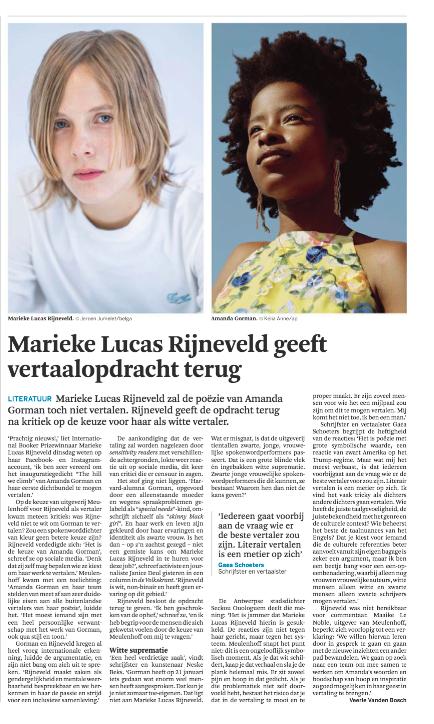 Marieke Lucas Rijneveld geeft vertaalopdracht terug